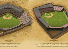 Historic Ballparks of Boston poster