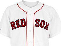 Red Sox team and player jerseys