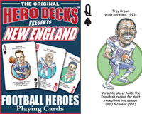 New England Football Heroes Poker Cards