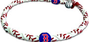 Red Sox baseball necklace