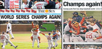 2007 Red Sox Front Pages collage