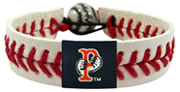 Pawtucket Red Sox baseball seam bracelet