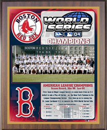 Red Sox Healy championship plaque