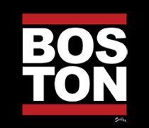Boston with red bars shirt