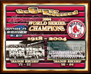 Curse Reversed Red Sox World Champions Healy plaque