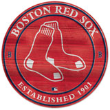 Wooden Red Sox roundel sign
