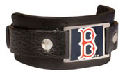 Red Sox leather cuff bracelet