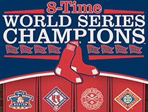 Red Sox 8-time World Series champions logo banner