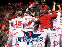 2013 Red Sox World Series celebration signature photo